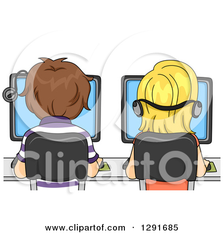 Students in computer lab clipart clip download Royalty-Free (RF) Computer Lab Clipart, Illustrations, Vector ... clip download