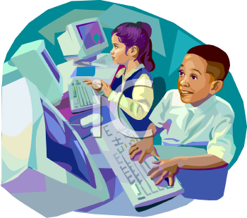 Students in computer lab clipart vector download Computer lab clipart for kids - ClipartFest vector download