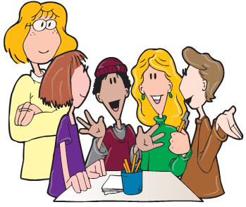 Students learning in a group clipart banner free stock great article on advantages of seating kids in groups rather ... banner free stock
