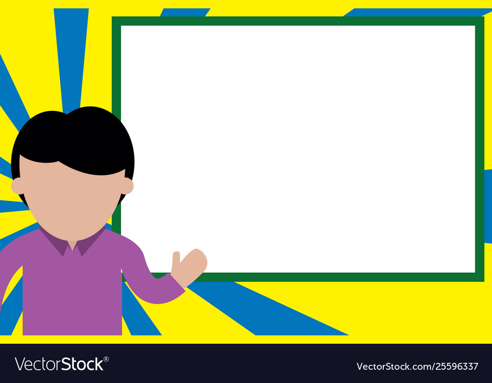 Students making a presentation clipart banner freeuse stock High school student making presentation young man banner freeuse stock