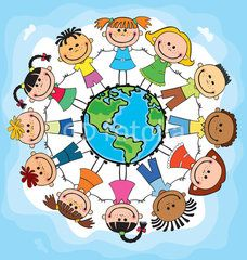 Students of different nationality holding hands clipart clip black and white library children of different nationalities around the globe ... clip black and white library