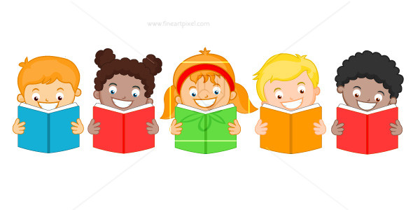 Students reading books clipart graphic Students reading books | Free vectors, illustrations, graphics ... graphic