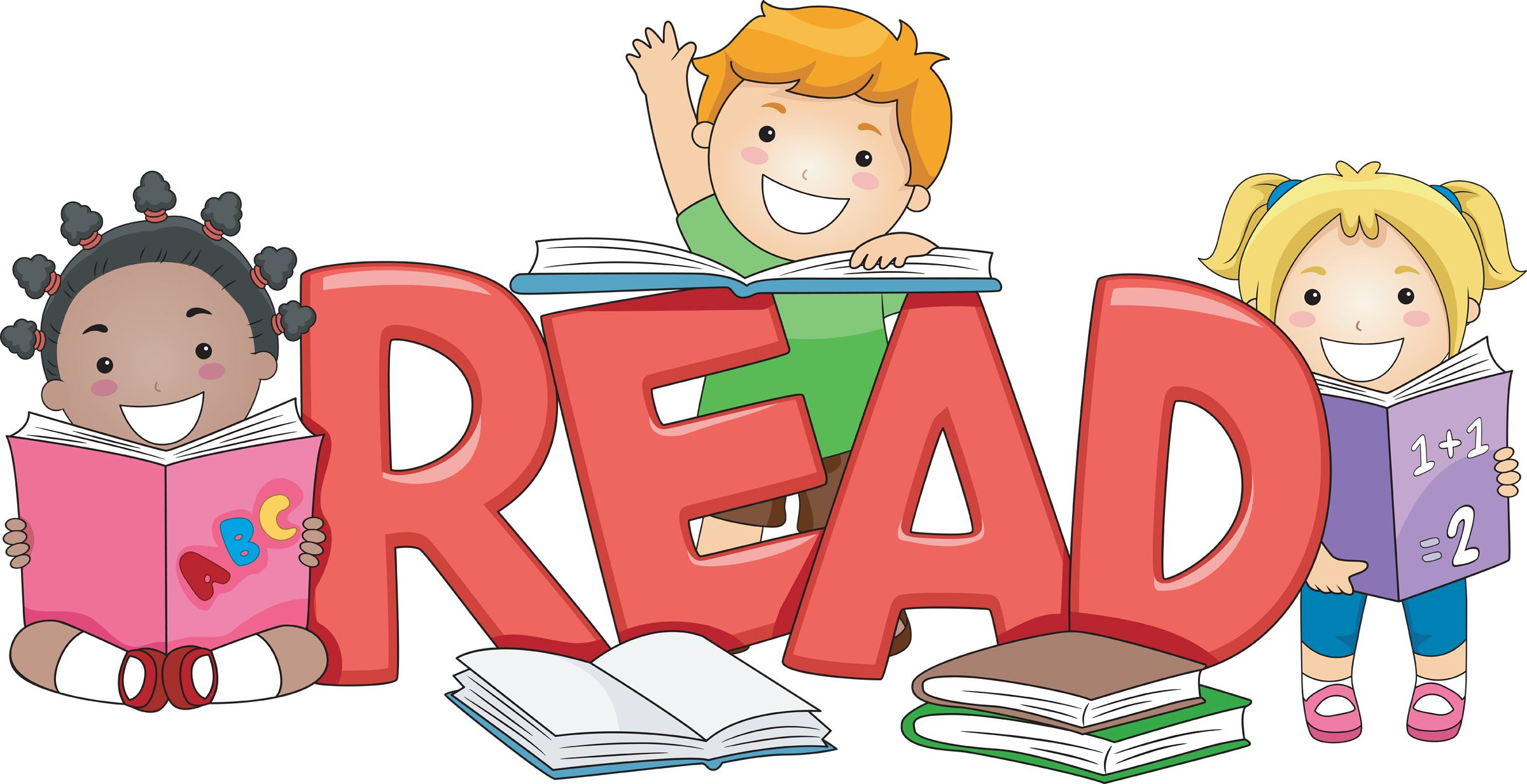 Students reading books clipart transparent library Students Reading Books Clip Art Clip art read students ... transparent library
