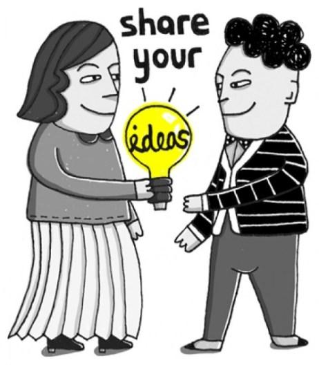 Students share ideas clipart clip transparent library Should Teachers Share Ideas Online?   Passnownow clip transparent library