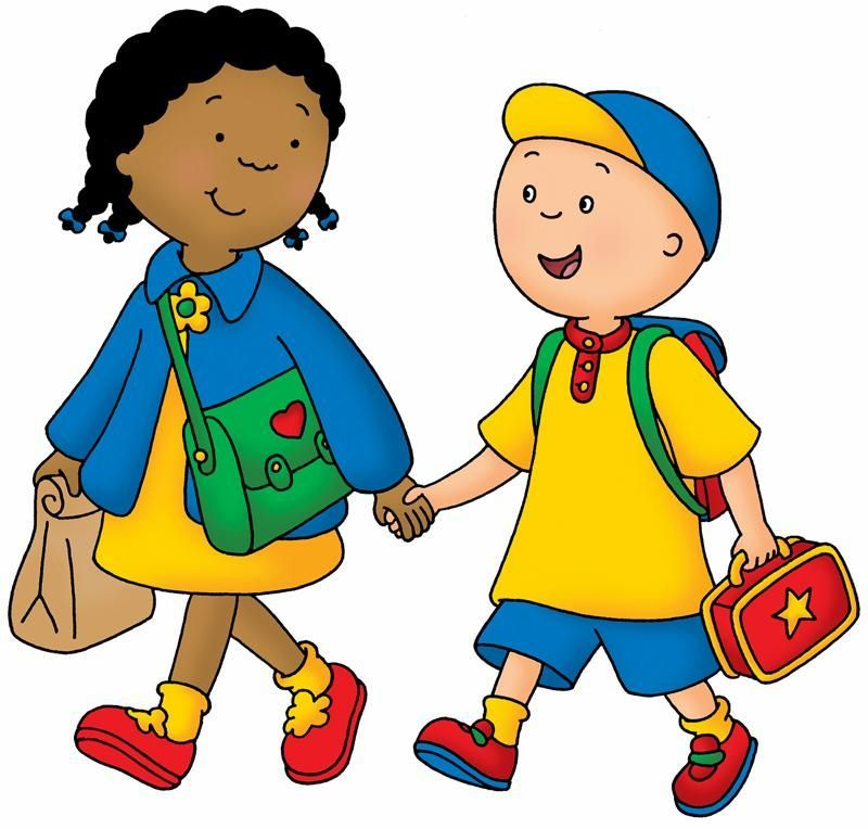 Library Of Students Walking To School Clip Art Transparent