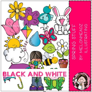 Stuf clipart picture transparent library Spring Stuff clip art - BLACK AND WHITE - Melonheadz Clipart picture transparent library