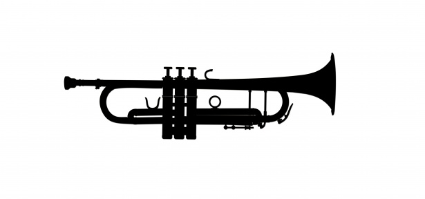 Trumpet clipart images svg transparent library Trumpet Clipart Silhouette Free Stock Photo - Public Domain ... svg transparent library