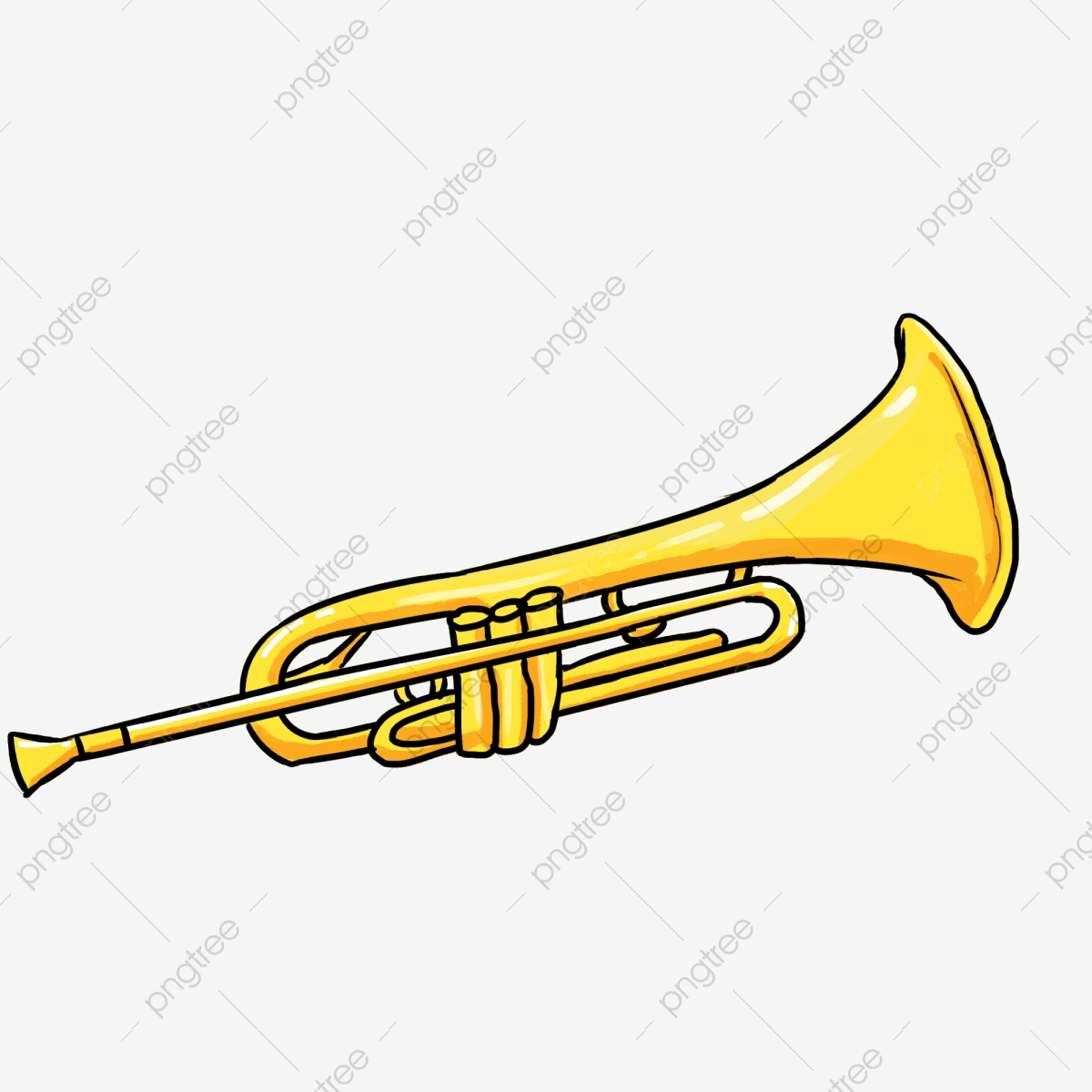 Trumpet Trumpet, Trumpet Clipart, Golden Horn PNG ... image black and white download