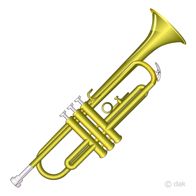 Trumpet clipart transparent vector freeuse download Trumpet Clipart Free Picture|Illustoon vector freeuse download