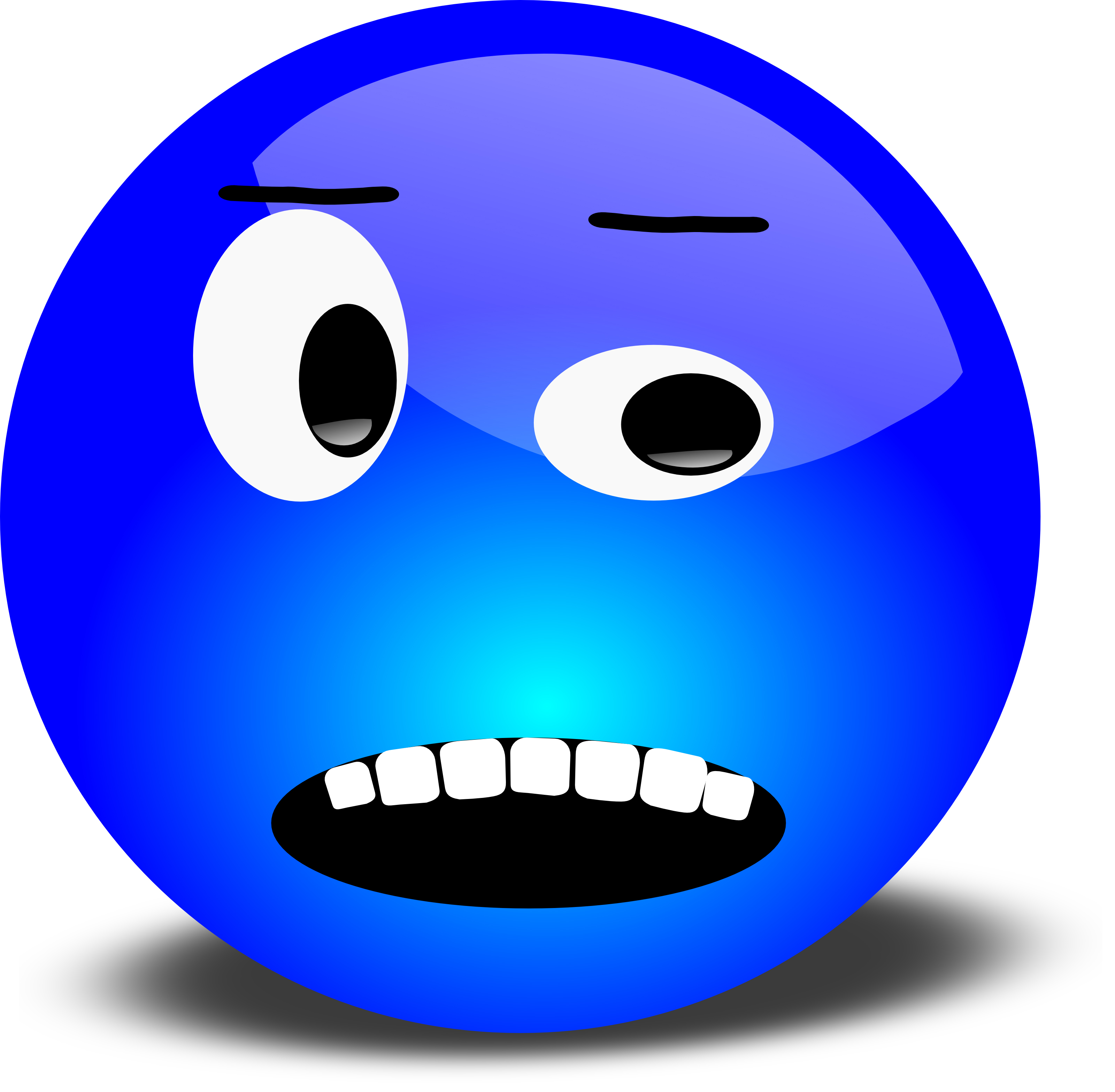 Stupid face clipart