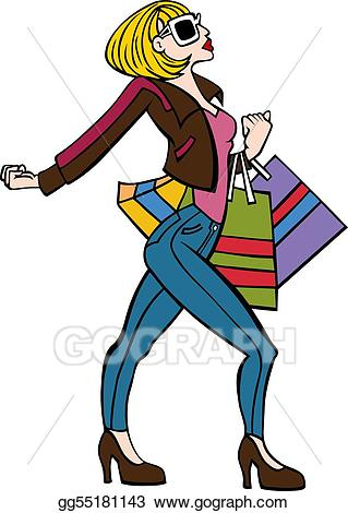 Stylish clipart picture library stock Vector Art - Stylish shopper. EPS clipart gg55181143 - GoGraph picture library stock