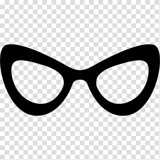 Stylish goggles clipart png black and white stock Cat eye glasses Monocle Computer Icons, stylish transparent ... png black and white stock