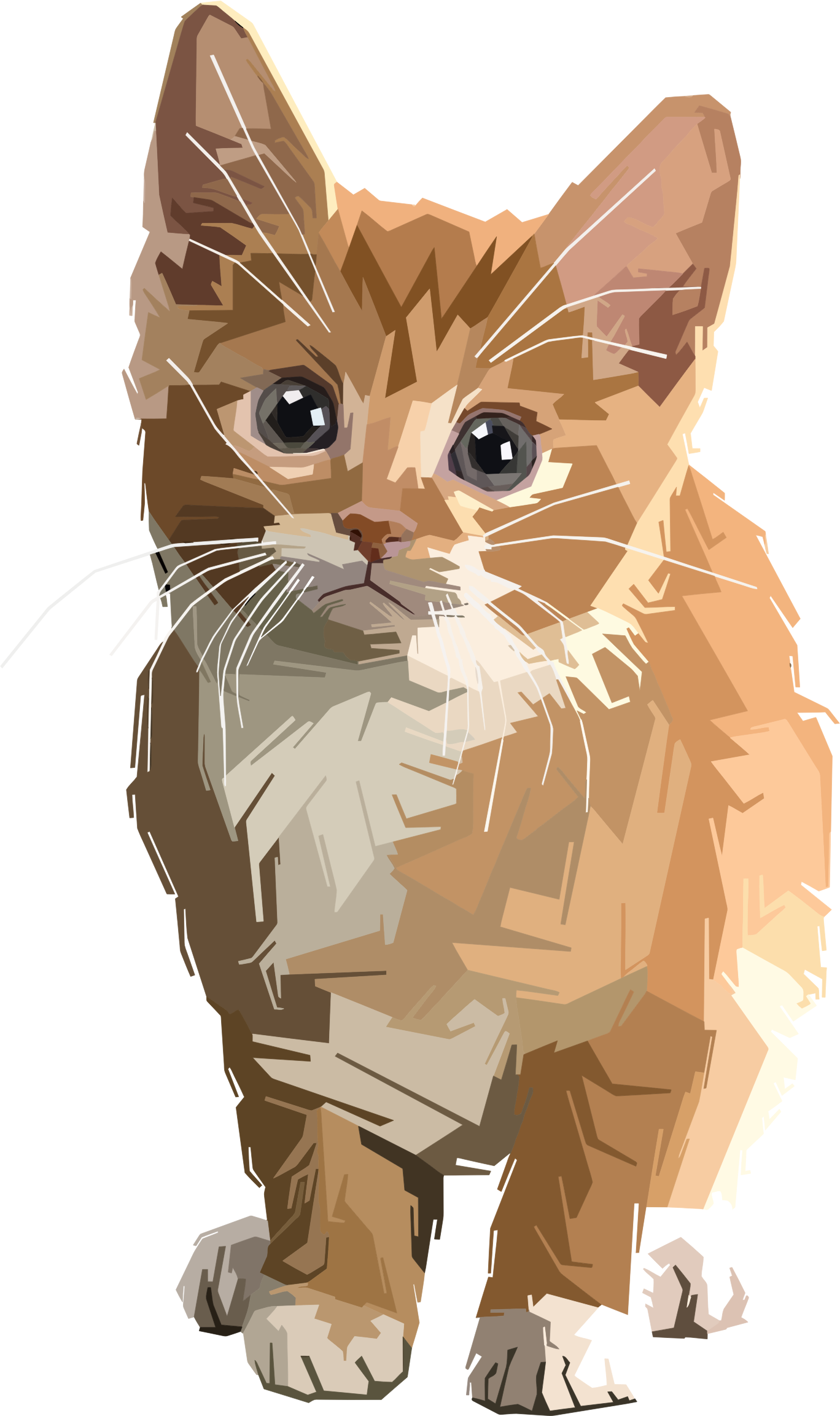 Tabbies cat clipart picture stock Clipart - Stylized Geometric Kitten picture stock