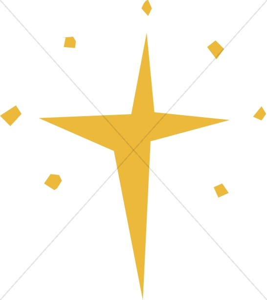 Stylized four point star shape clipart vector royalty free download Cut Out Natal Star | Epiphany Clipart vector royalty free download
