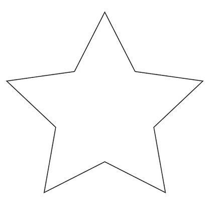 Stylized four point star shape clipart download Star Shape Templates and Patterns | Star Template - A ... download