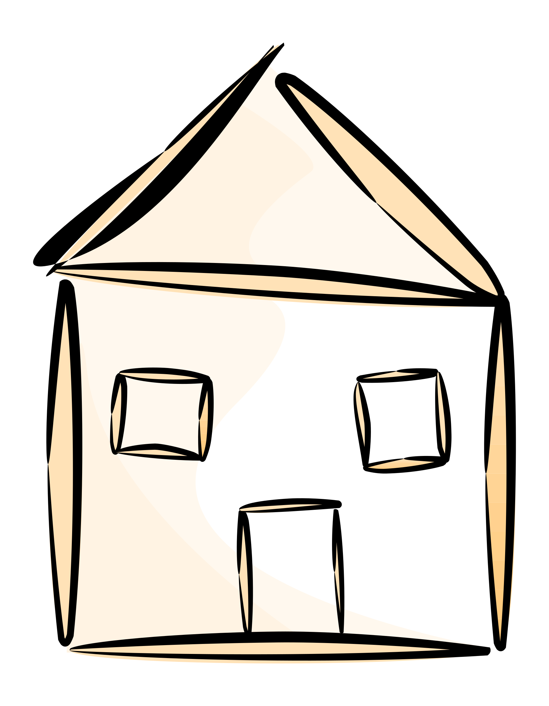 Stylized house clipart vector stock Clipart - stylized house vector stock