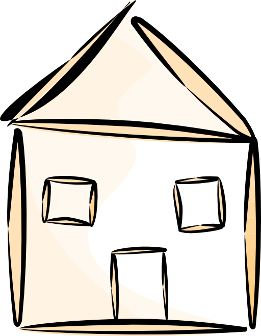 Stylized house clipart