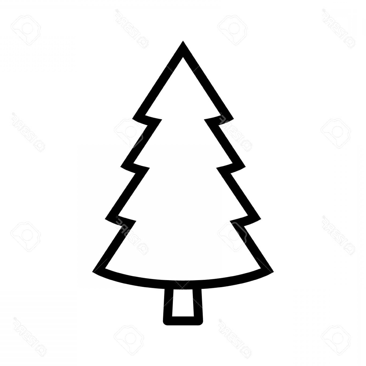 Stylized pine tree clipart clip library download Evergreen Conifer Pine Tree Flat Stylized Line Art Vector ... clip library download