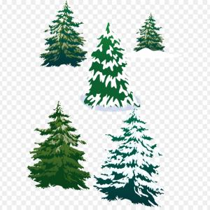 Stylized pine tree clipart banner free download Evergreen Conifer Pine Tree Flat Stylized Line Art Vector ... banner free download