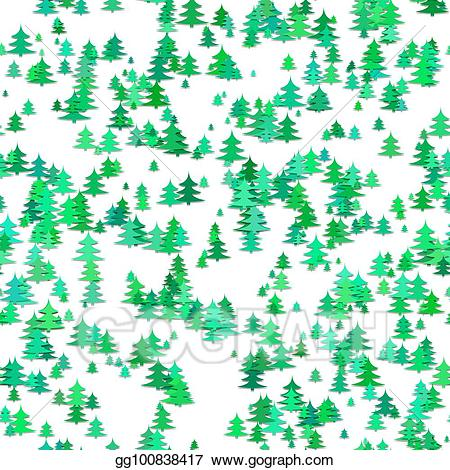 Stylized pine tree clipart png download Vector Stock - Seamless random christmas background ... png download