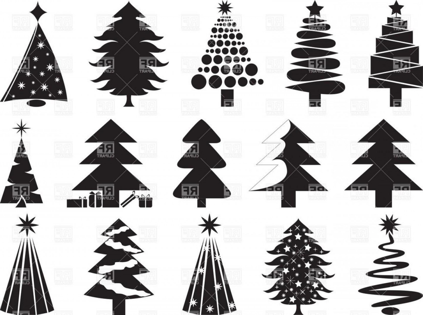 Stylized pine tree clipart clipart freeuse Pine Tree Silhouette Vector Clip | SOIDERGI clipart freeuse