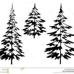 Stylized pine tree clipart svg download Evergreen Conifer Pine Tree Flat Stylized Line Art Vector ... svg download