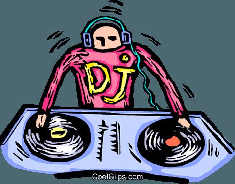 Sua musica clipart clip library DJ che lavorano con la sua musica, disk jockey immagini ... clip library