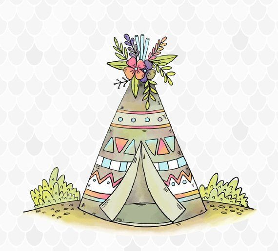 Sublimination clipart clip art transparent stock Boho Sublimation, Teepee Sublimation, Watercolor Teepee ... clip art transparent stock