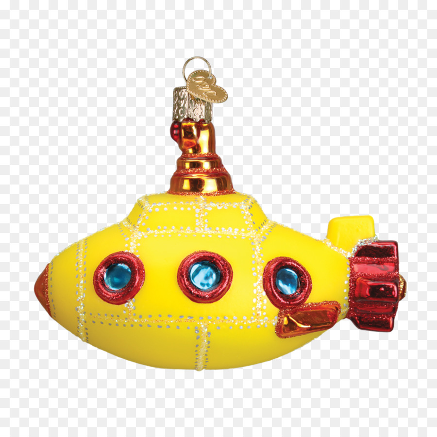 Submarine fish decor clipart image free Christmas Decoration Cartoon clipart - Yellow, Product ... image free