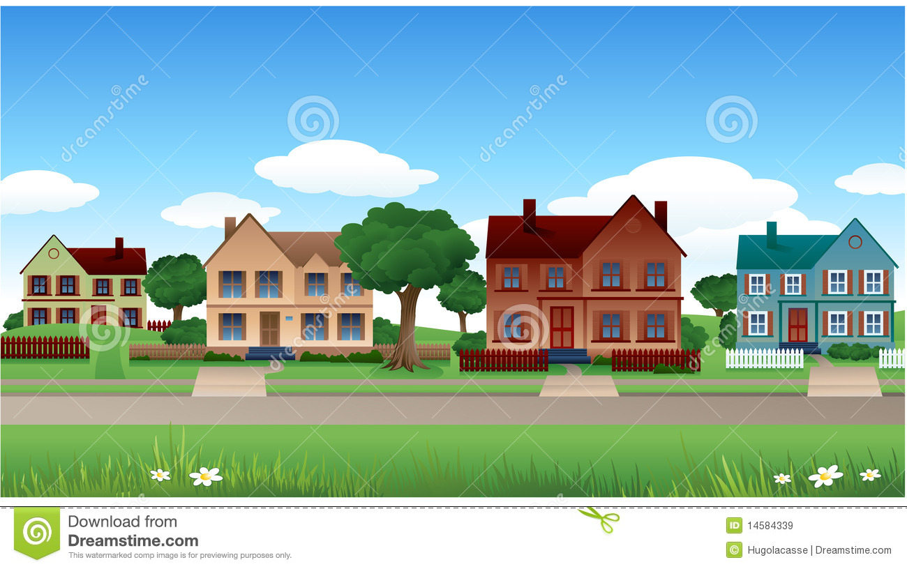 Suburb clipart vector freeuse library Suburb Clip Art | Clipart Panda - Free Clipart Images vector freeuse library