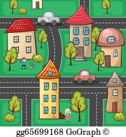 Suburb clipart picture free library Suburb Clip Art - Royalty Free - GoGraph picture free library