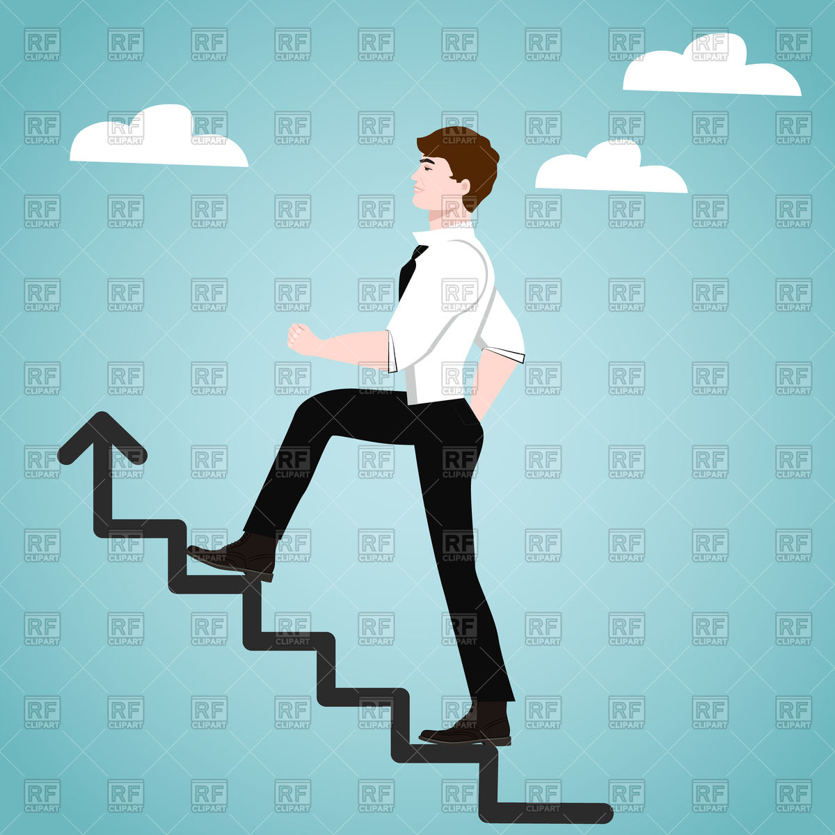 Success clipart images free download png Businessman on stairs - success concept Vector Image #100427 ... png