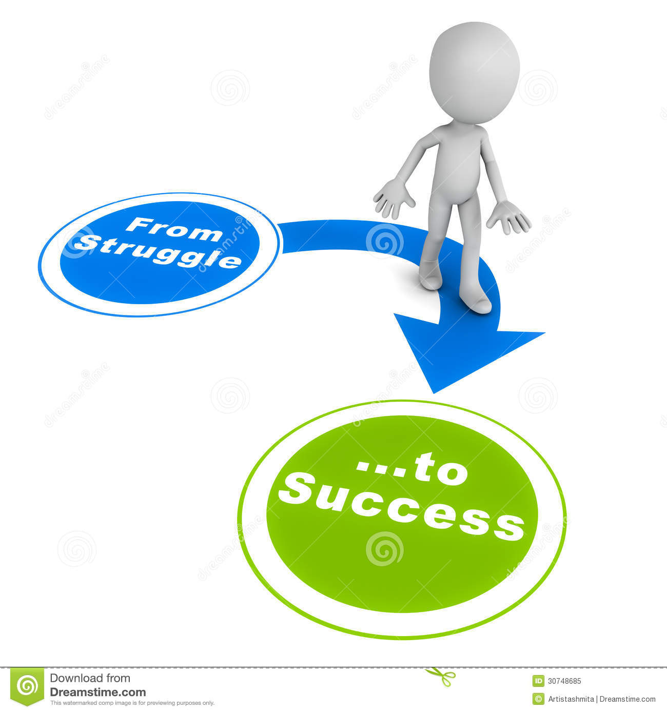 Success clipart images free download image black and white stock Struggle To Success Royalty Free Stock Photo - Image: 30748685 image black and white stock