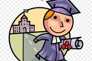 Successful student clipart