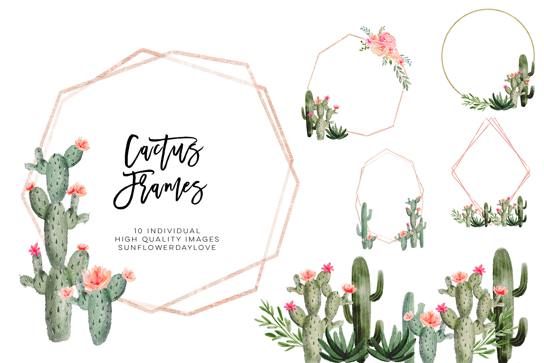 Succilent clipart svg freeuse download Succulent cactus frames, succulent borders, cactus clipart svg freeuse download