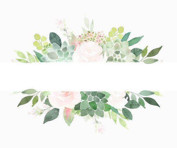 Watercolor succulent border free clipart svg black and white stock Succulents Clipart Frames, Succulent Border, roses frame ... svg black and white stock