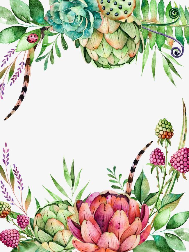 Succulent clipart download jpg transparent Succulent Plants, Plants Clipart, Frame, Succulents PNG ... jpg transparent