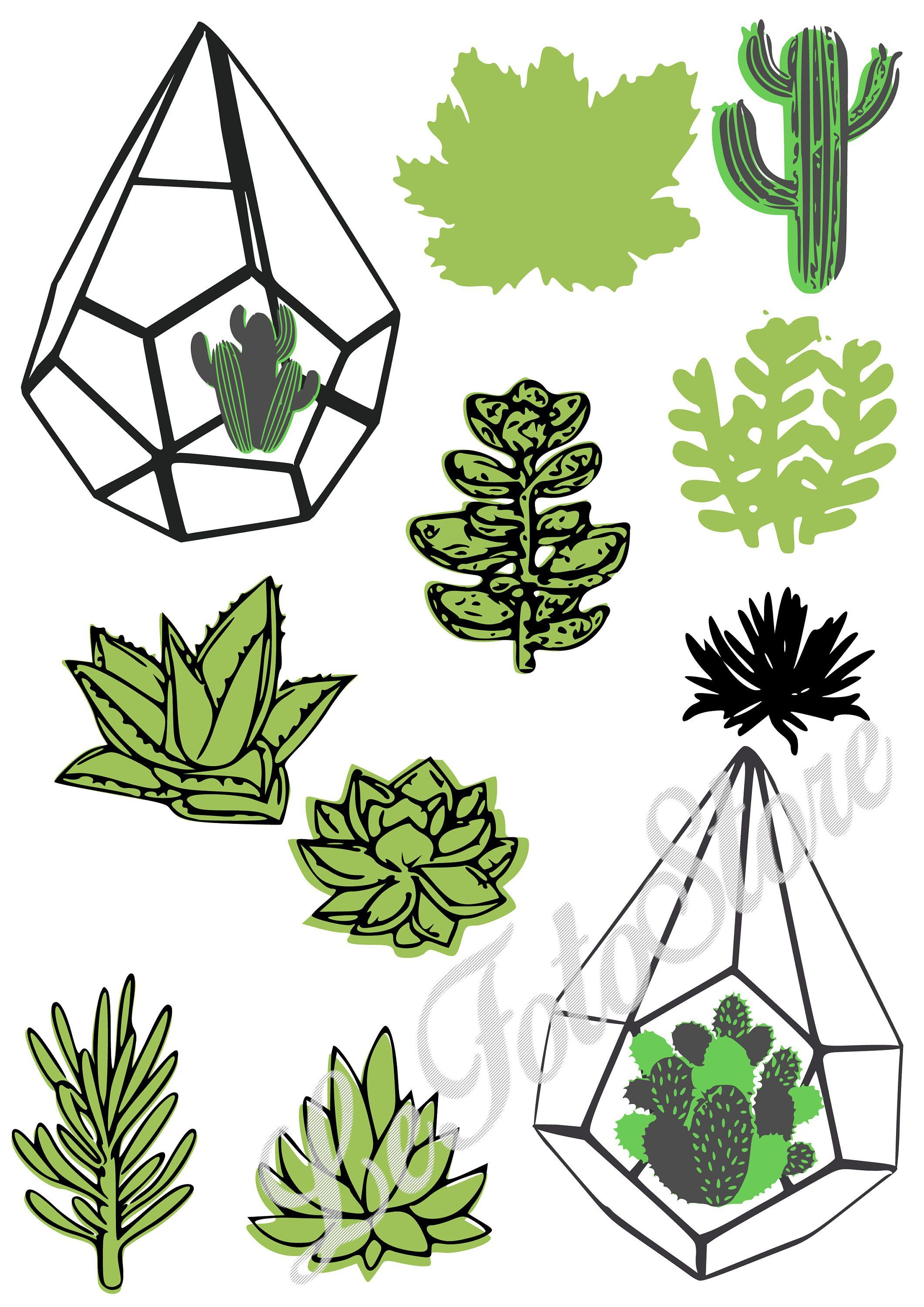 Succulent clipart for cricut free Cactus SVG Files for Cricut, Cacti SVG bundle, SVG Cactus ... free