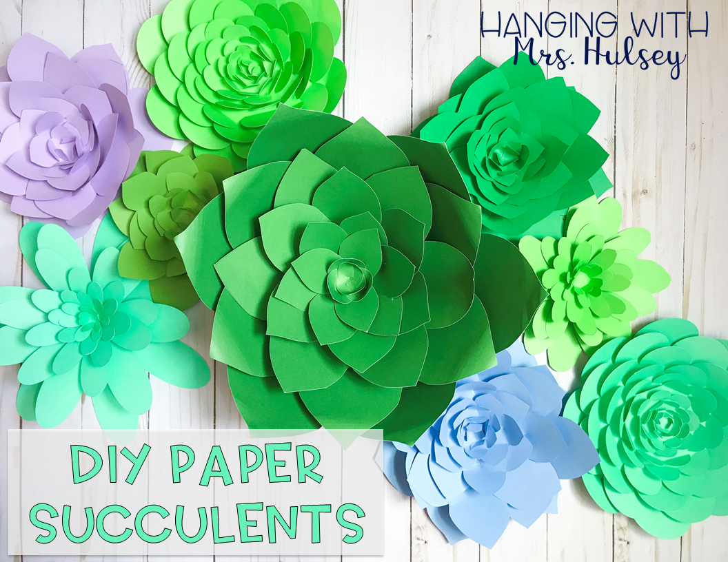 Succulent clipart for cricut graphic transparent library DIY Paper Succulents - Hanging with Mrs. Hulsey graphic transparent library