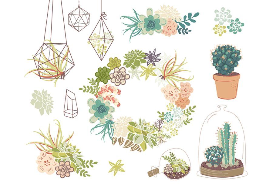 Succulents clipart jpg royalty free download Wedding Succulents Floral clipart jpg royalty free download