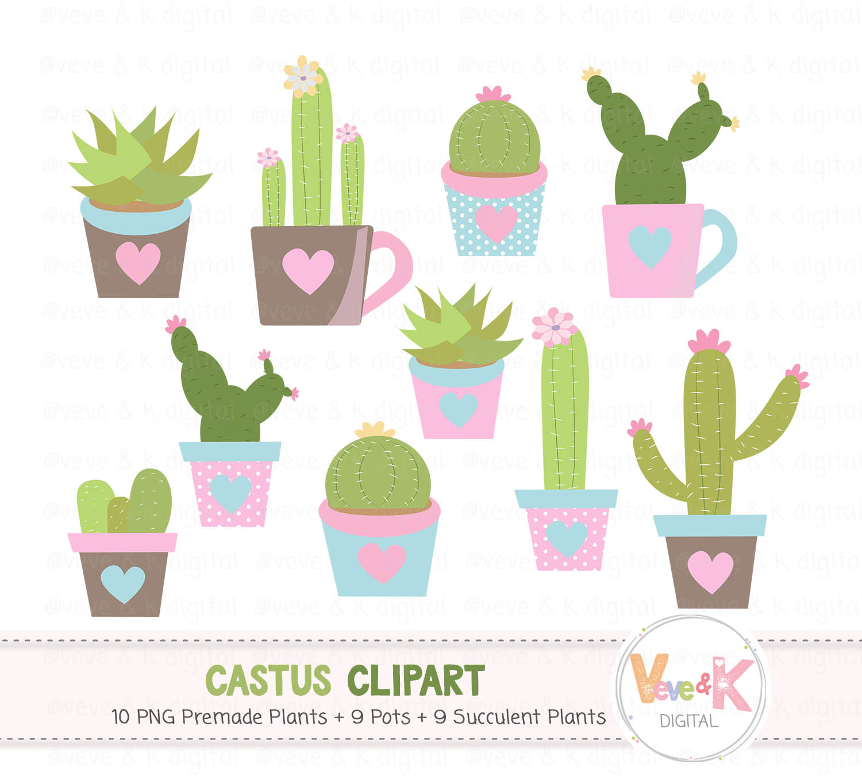 Succulents clipart jpg transparent download Cactus Clip Art, Cacti Clipart, Cute Cactus Clipart, Succulents Clip Art,  Cactus Graphics, Planner Accessories, Plant Clipart, Cacti jpg transparent download