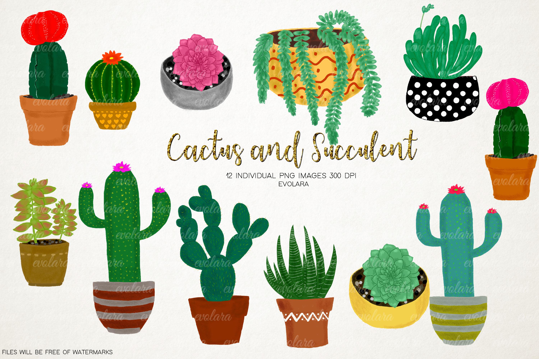 Succulents clipart svg transparent library Boho Cactus Clipart Succulents Clipart Plant Clipart Cactus svg transparent library