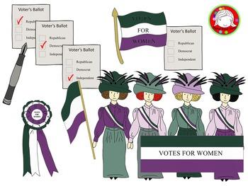 Suffragette clipart clipart library download Suffragette Clipart BUNDLE (Personal & Commercial Use) clipart library download