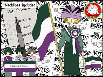 Suffragette clipart clip library stock Suffragette Clipart (Personal & Commercial Use) clip library stock