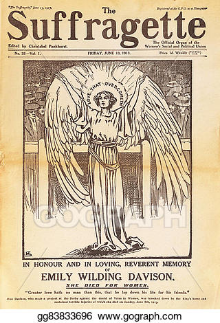 Suffragette clipart picture royalty free library Stock Illustration - Front cover of the suffragette magazine ... picture royalty free library