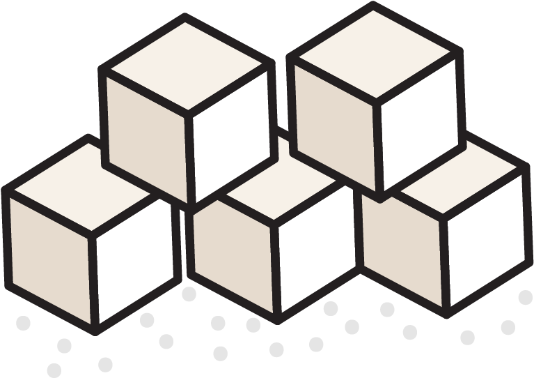 Sugar cubes clipart image black and white download Sugar - Change 4 Life Sugar Cubes Clipart - Full Size ... image black and white download