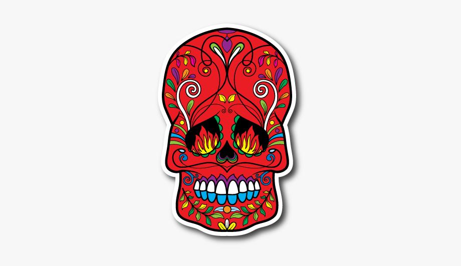 Sugar high clipart clip freeuse library Sugar Skull Vinyl Sticker - Sugar Skull Flames In Eyes ... clip freeuse library