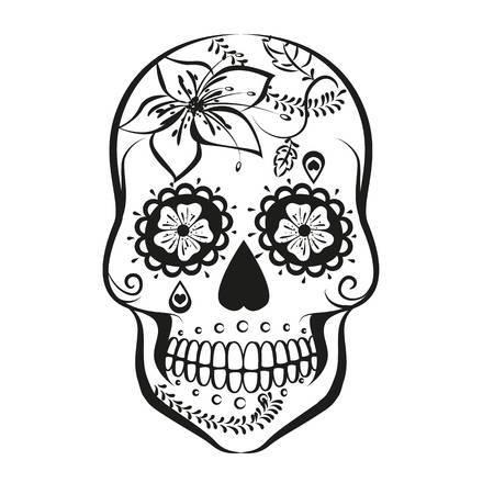 Sugar scull clipart image transparent Sugar skull clipart black and white » Clipart Portal image transparent