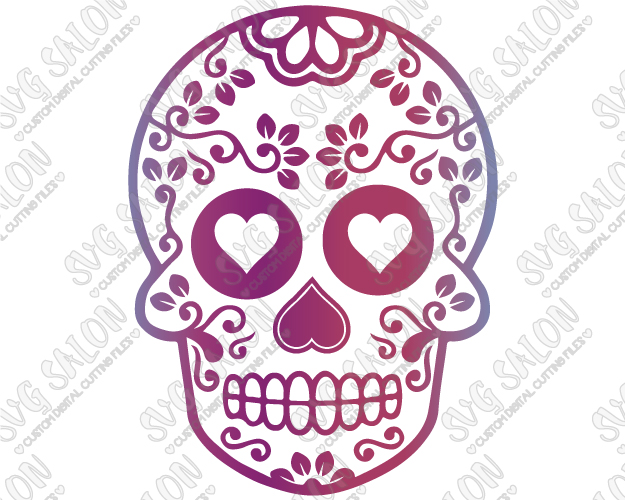 Sugar scull clipart clip art transparent Floral Sugar Skull Halloween Cut File in SVG, EPS, DXF, JPEG, and PNG clip art transparent