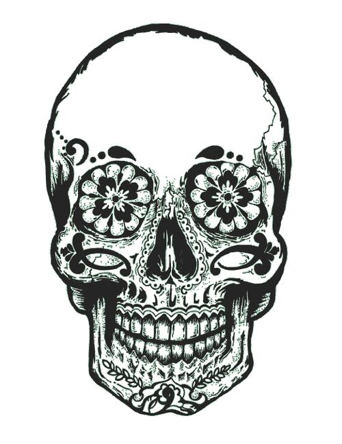 Sugar skull pumpkin clipart svg black and white download Gallery For > Tumblr Transparent Skull | t-shirt makin | Pinterest ... svg black and white download
